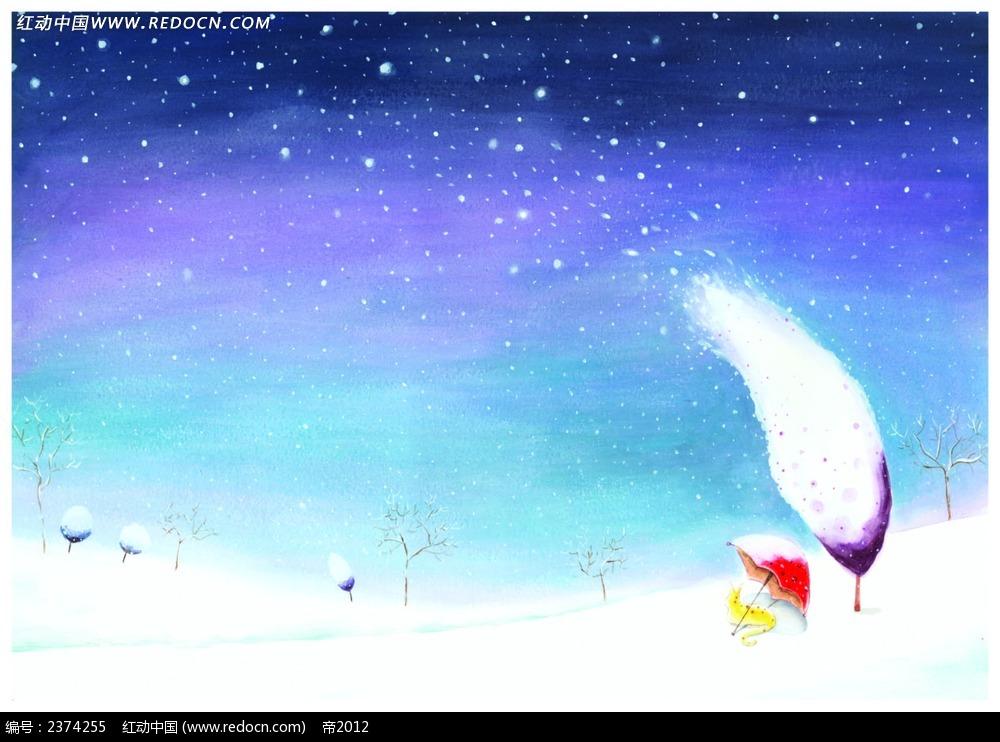 唯美雪景艺术画