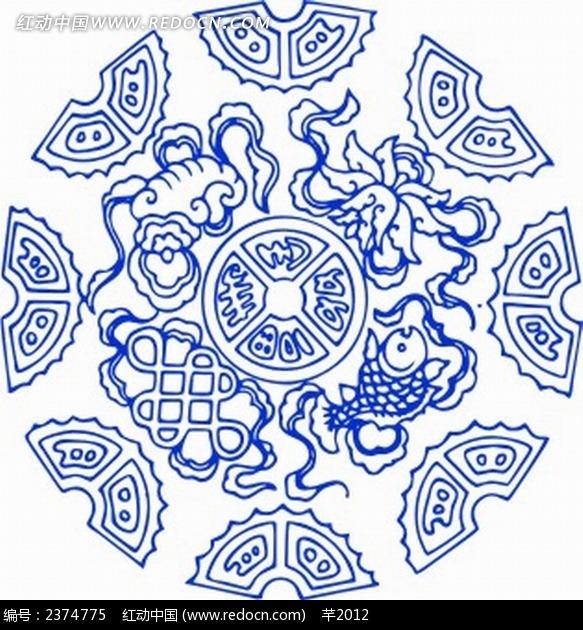 中式花纹图案背景图片图片