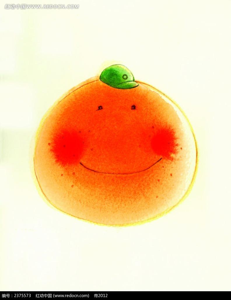 橘子人物水彩画