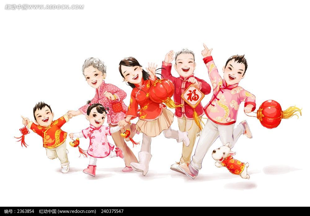 春节拜年动漫人物