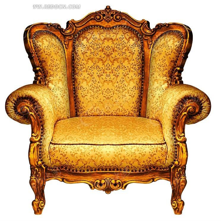 高端金色沙发椅子