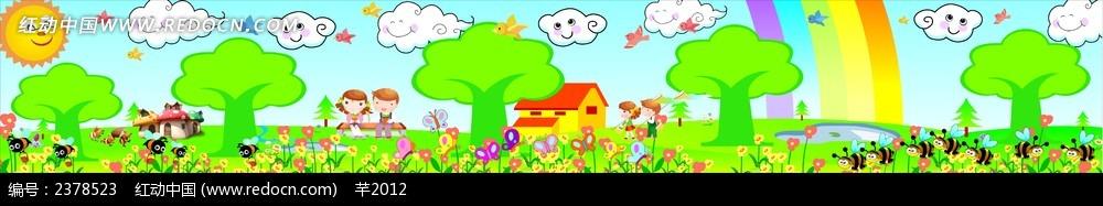 幼儿园墙绘  卡通漫画
