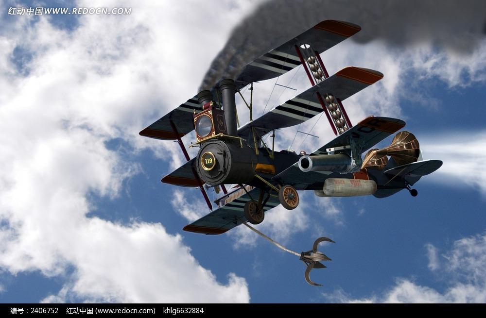老式飞机图片
