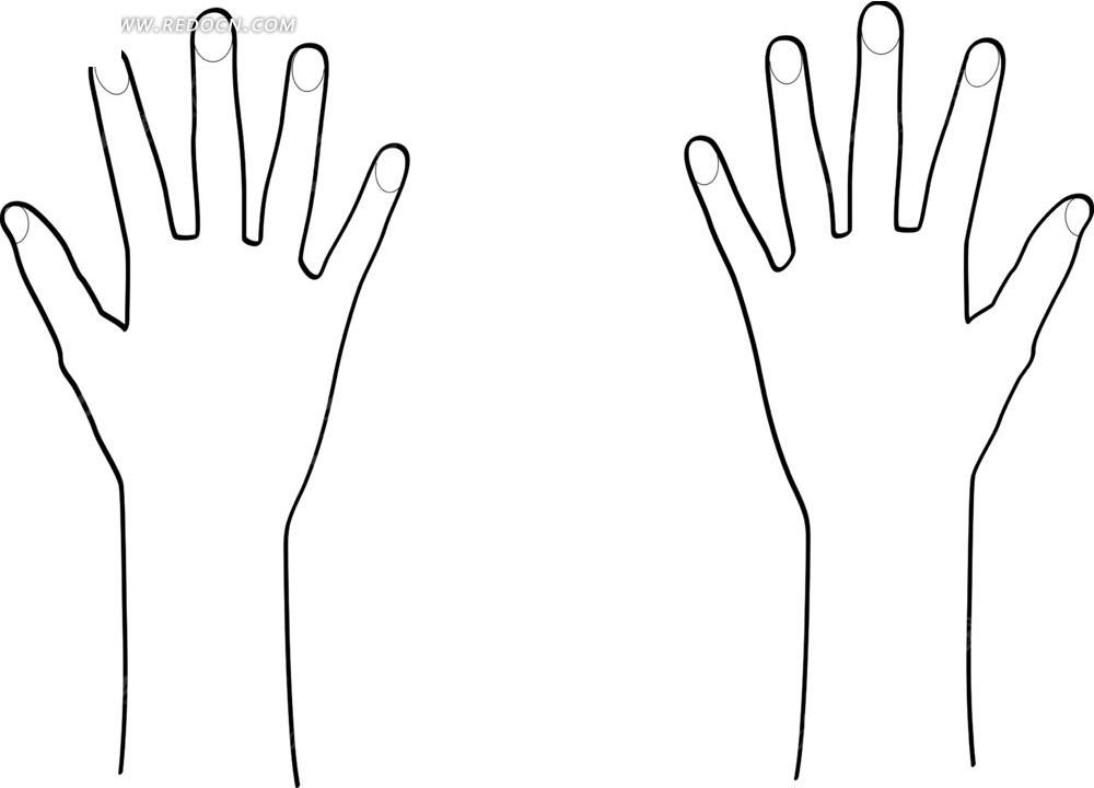手型矢量图免费下载
