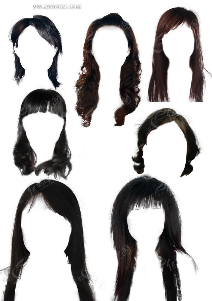 女士卷发长发发型素材大全