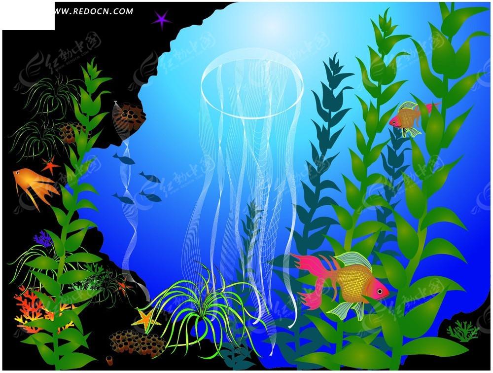纯手绘海底世界