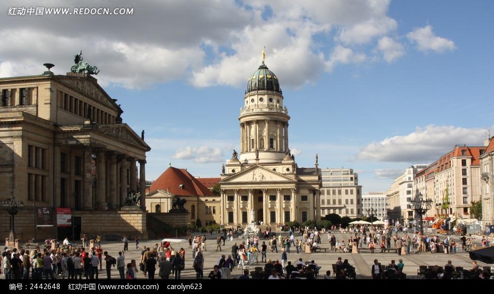 柏林御林广场特写图片