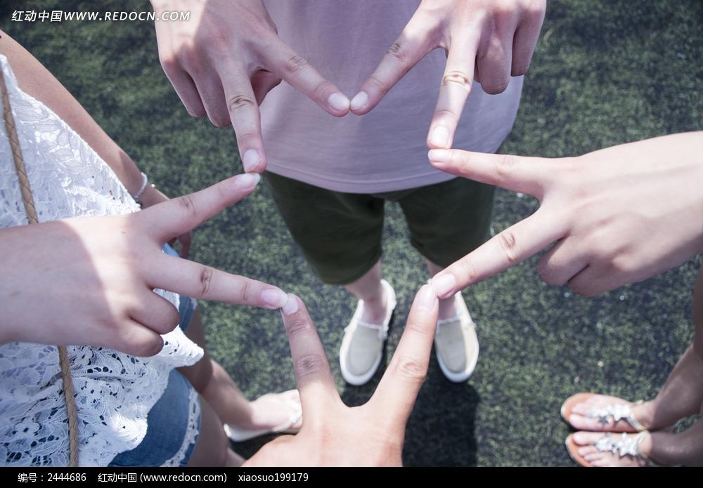 手拼五角星图片