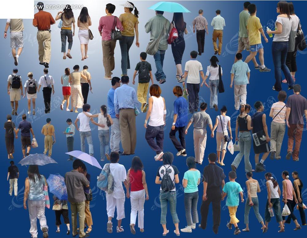 ps人群 商务 上班族 购物 休闲 撑伞 聊天 人物素材 人物图片 行走 搭