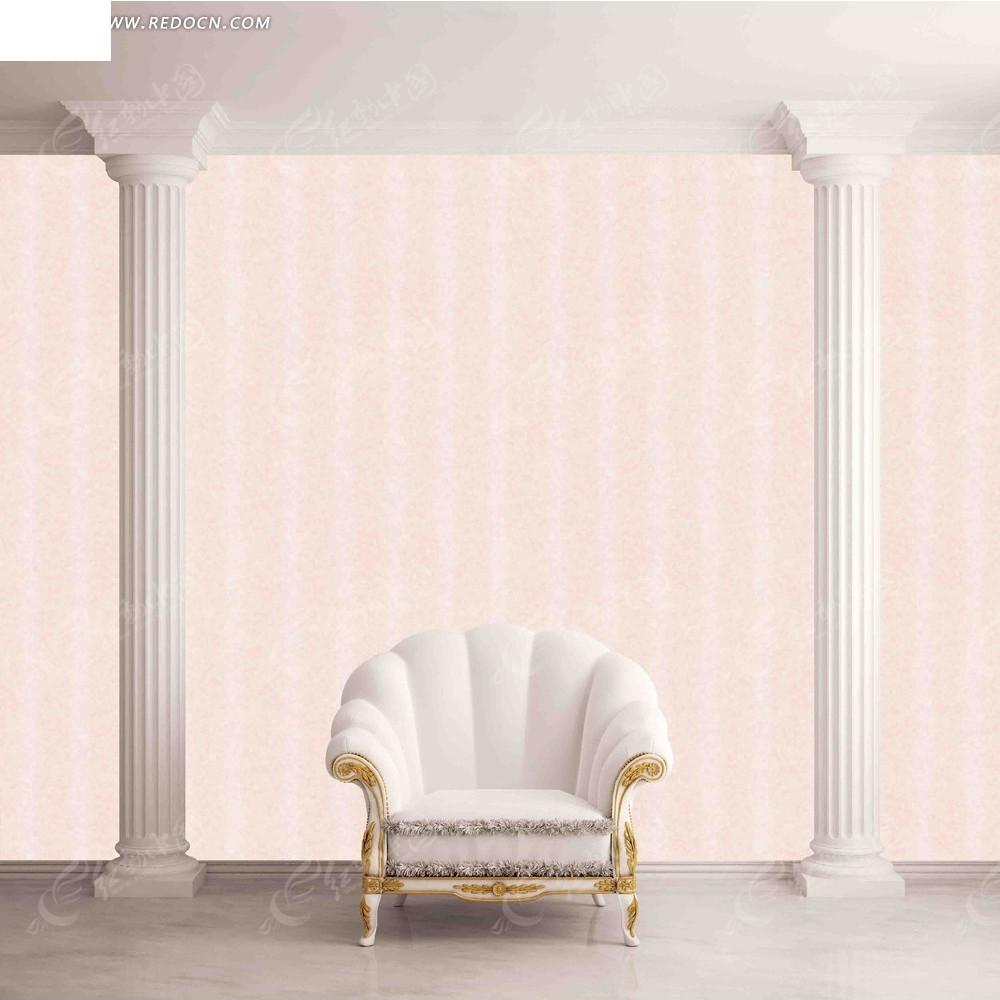 欧式沙发背景墙图片