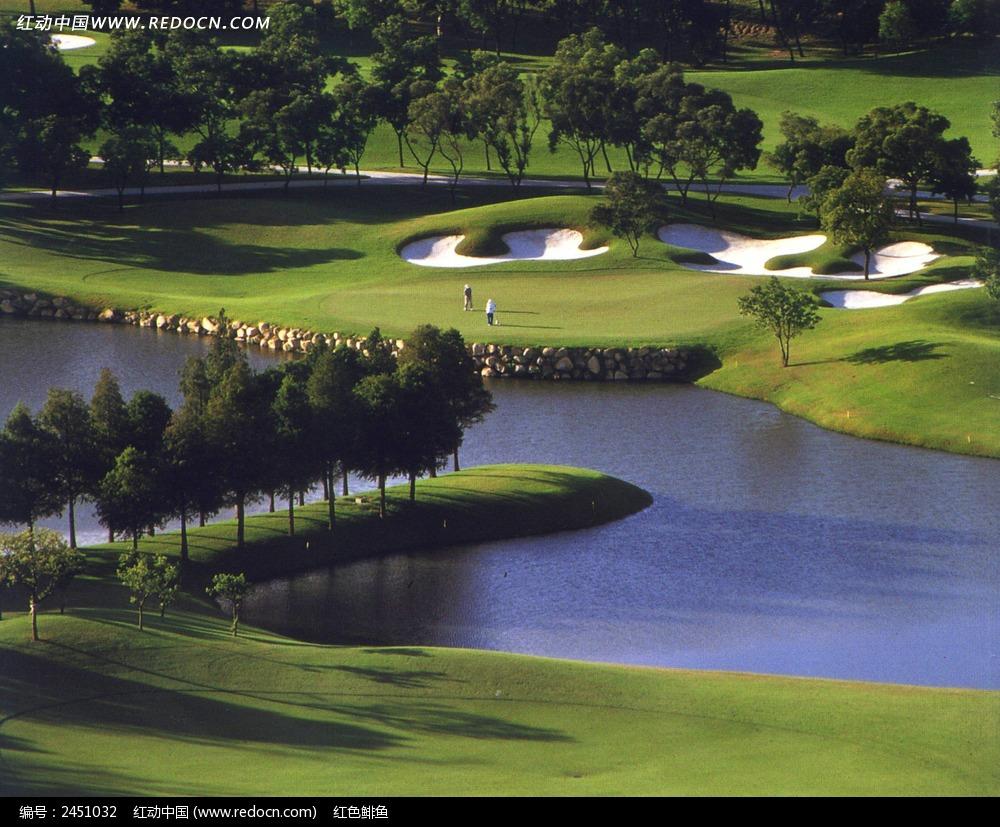 高尔夫球场风景图片