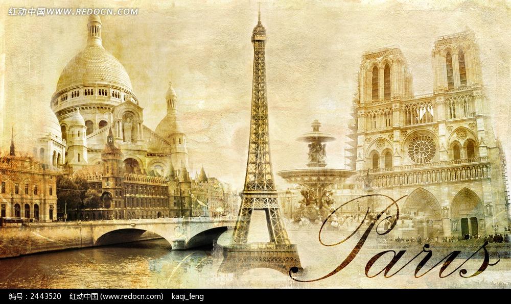 外国怀旧建筑背景图片