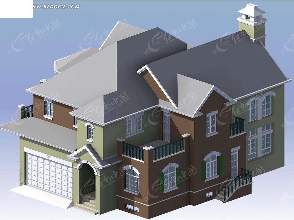 3dmax别墅模型_建筑模型