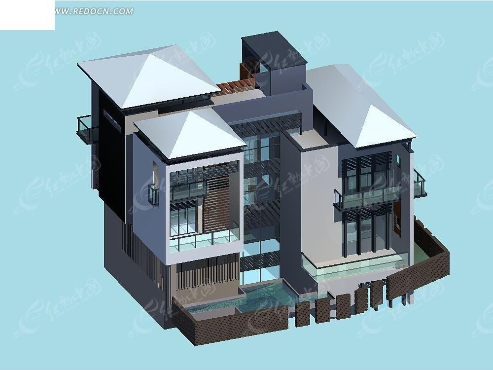 欧式3dmax别墅模型设计