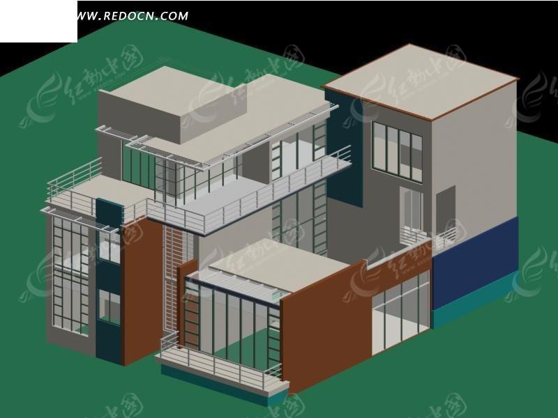 农村别墅模型
