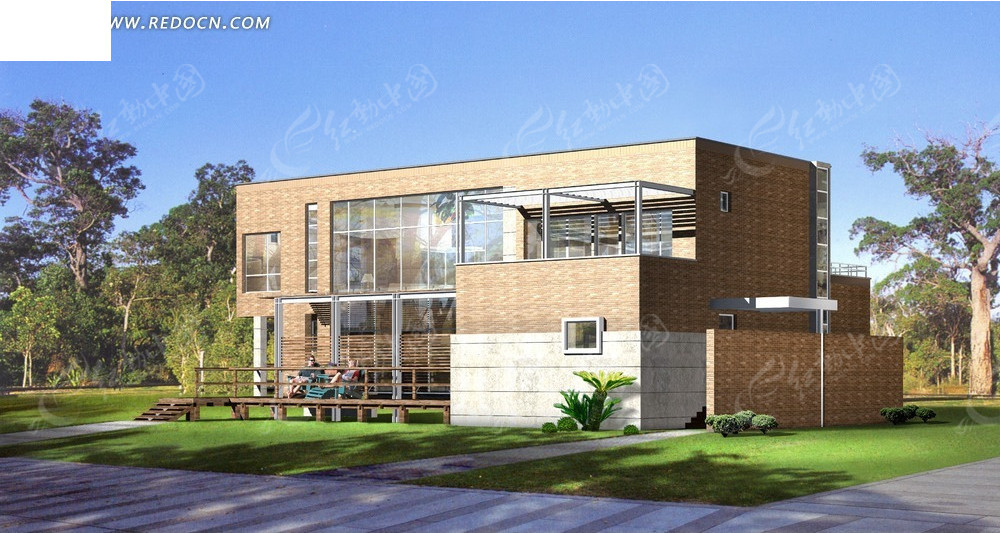 欧式花园别墅设计3d模型