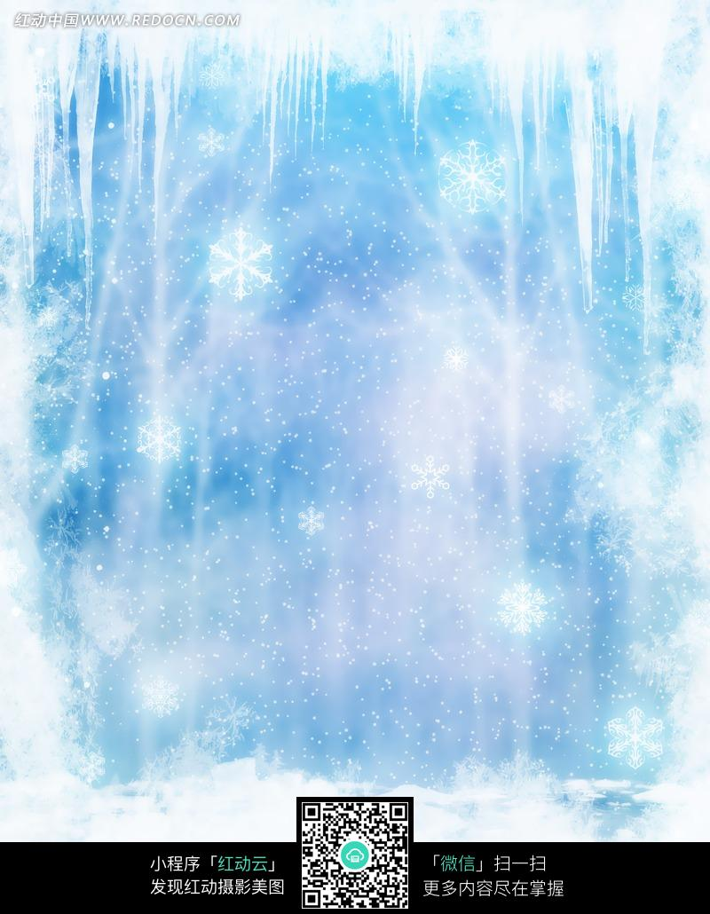梦幻的冰雪世界摄影背景图片