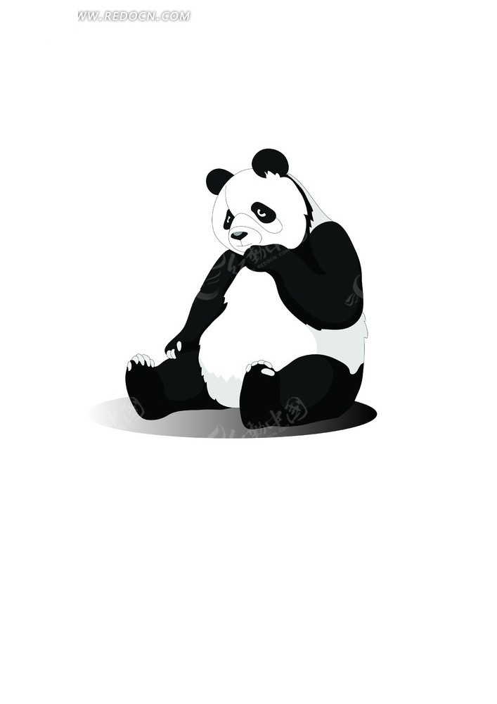 熊猫图片ai免费下载_陆地动物素材