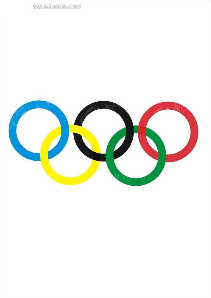 奥运五环标志图片