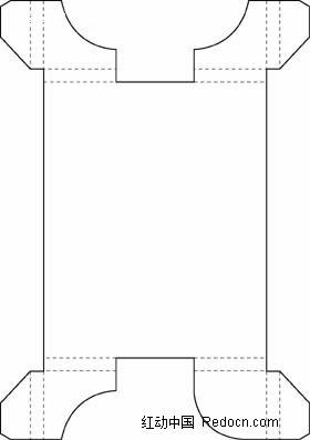 简约包装结构设计矢量图eps免费下载