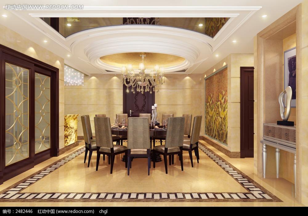 餐厅效果图3D模型图片高清图片