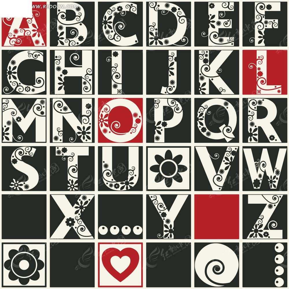 花纹字母设计