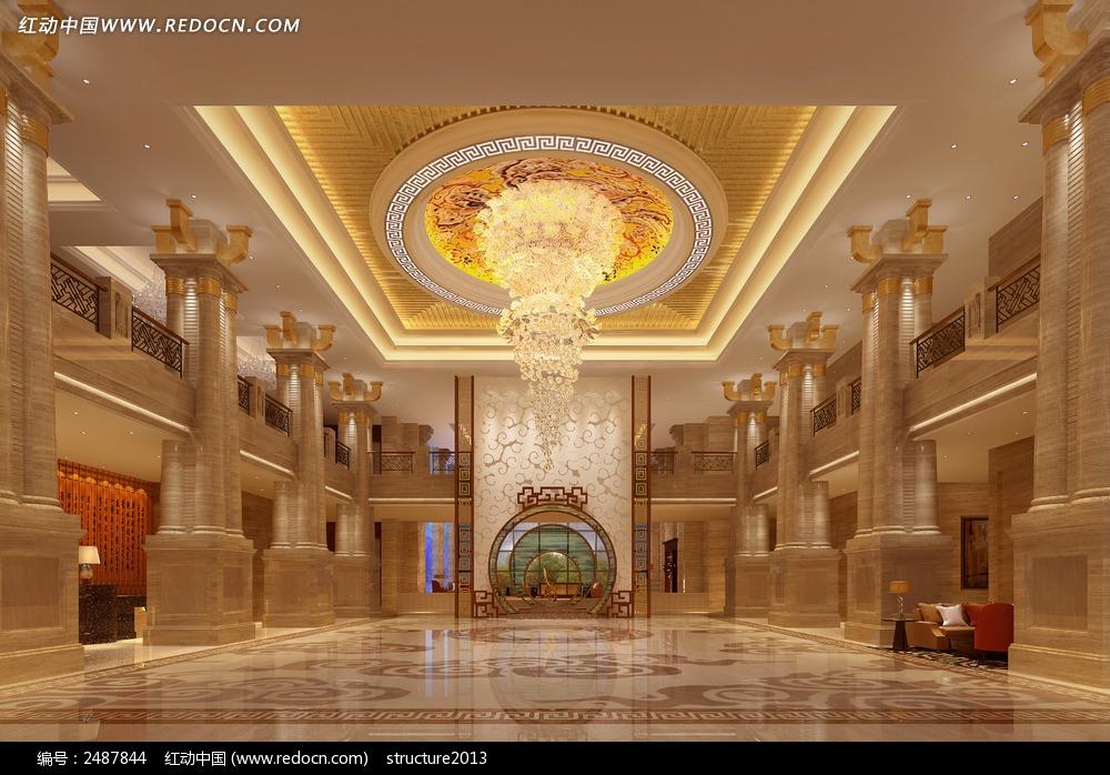 欧式酒店大堂_西餐美食图片图片