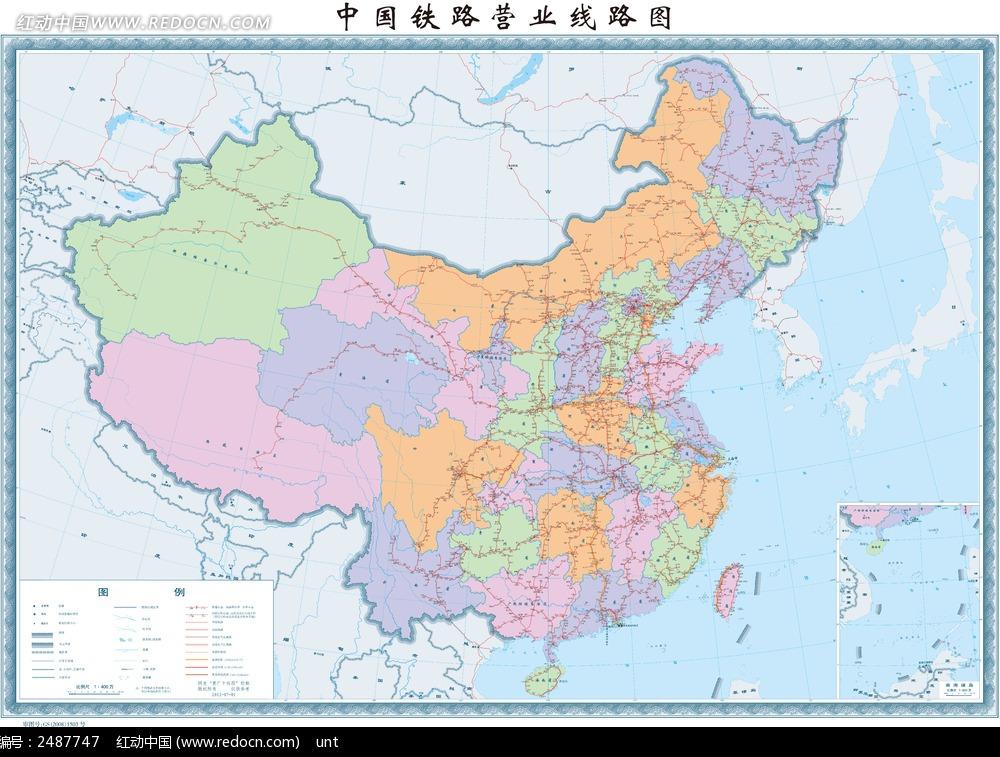 中国铁路线路图