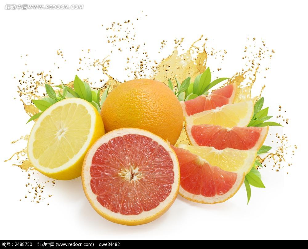 柠檬柚子的切块