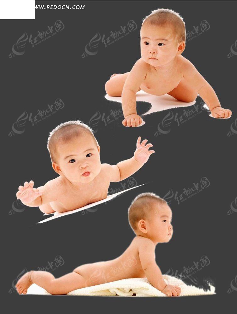 婴儿 幼儿 爬行姿势 人物图片 广告设计 psd分层素材 人物素材  psd