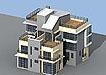农村独幢别墅设计模型
