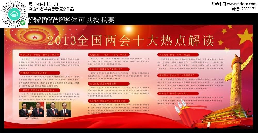 2013全国两会十大热点解读展板素材