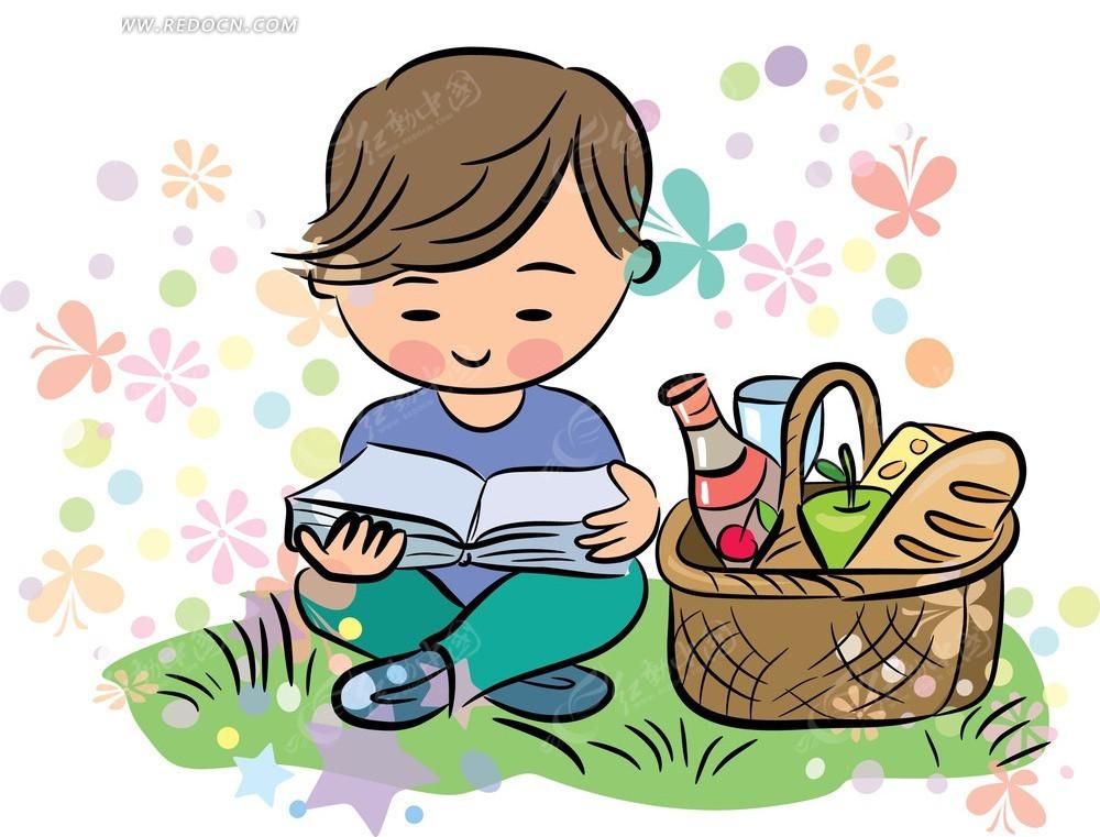 动漫手绘读书图片