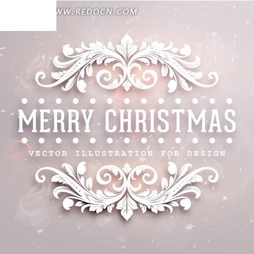 欧式圣诞花纹图片