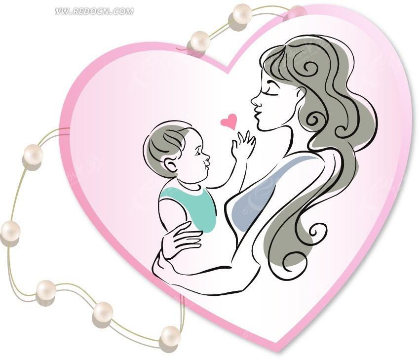 母亲节卡通素材设计AI免费下载 编号2537293 红动网图片