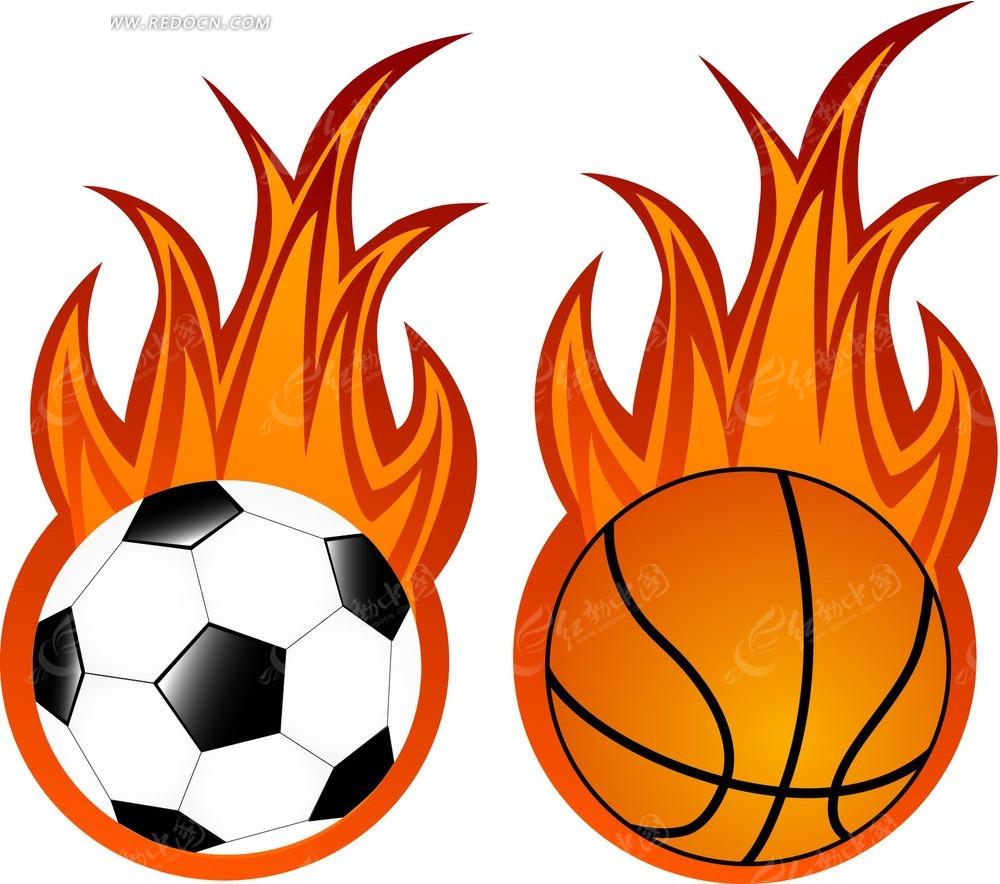 篮球类手绘卡通背景