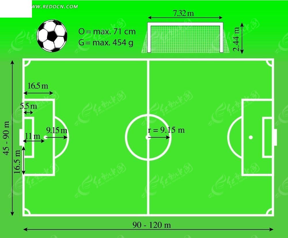 足球球场平面图 海报矢量图下载 2539339