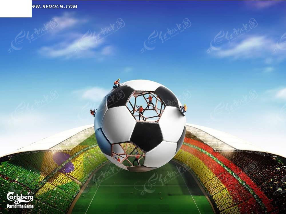 足球广告背景素材