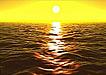 夕阳海水波浪