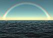 彩虹海水 海面彩虹