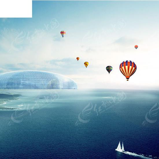 免费素材 psd素材 psd分层素材 风景 唯美蓝色大海风光psd素材  请您
