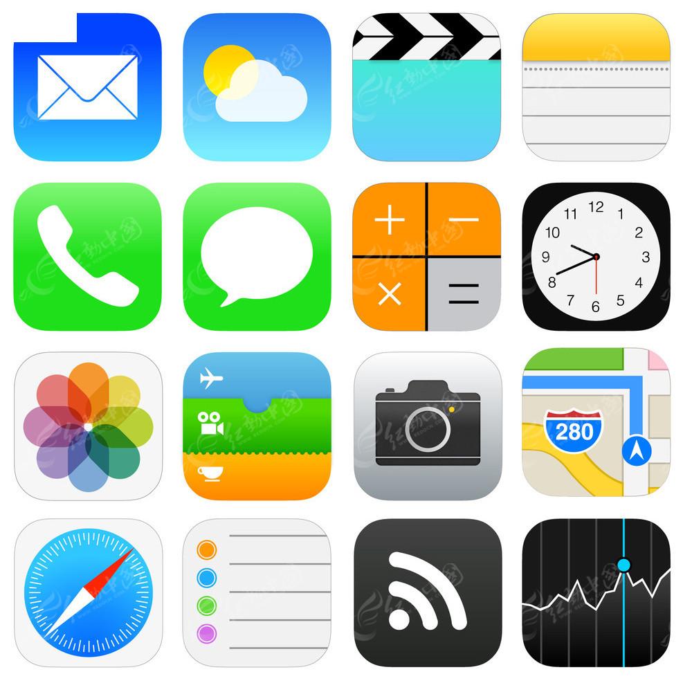 苹果ios7系统 图标