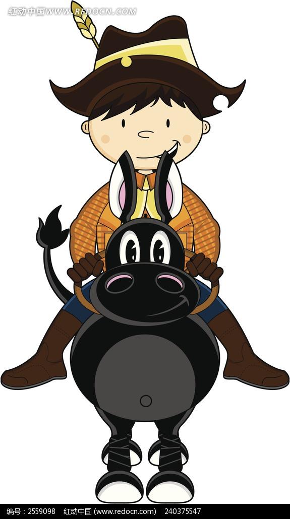 骑马人_人物卡通图片