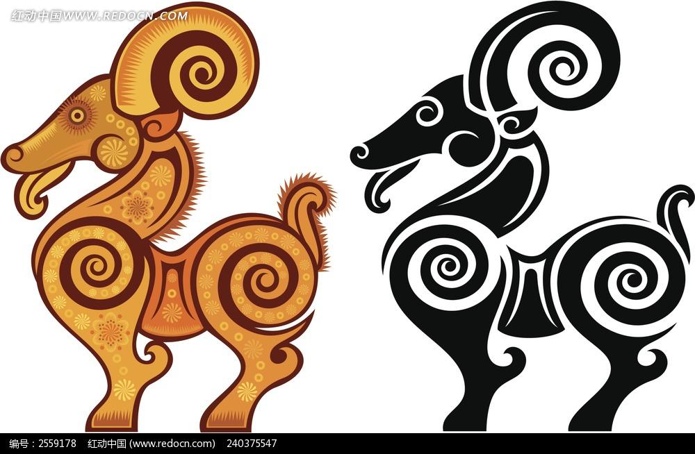 生肖 十二生肖 中国 传统 文化 羊  卡通人物 漫画人物 人物绘画 插画