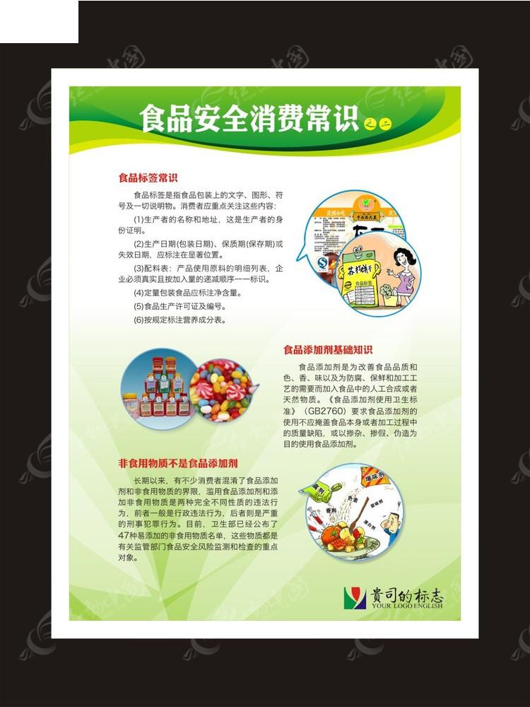 食品安全消费常识宣传展板矢量图 展板设计图片