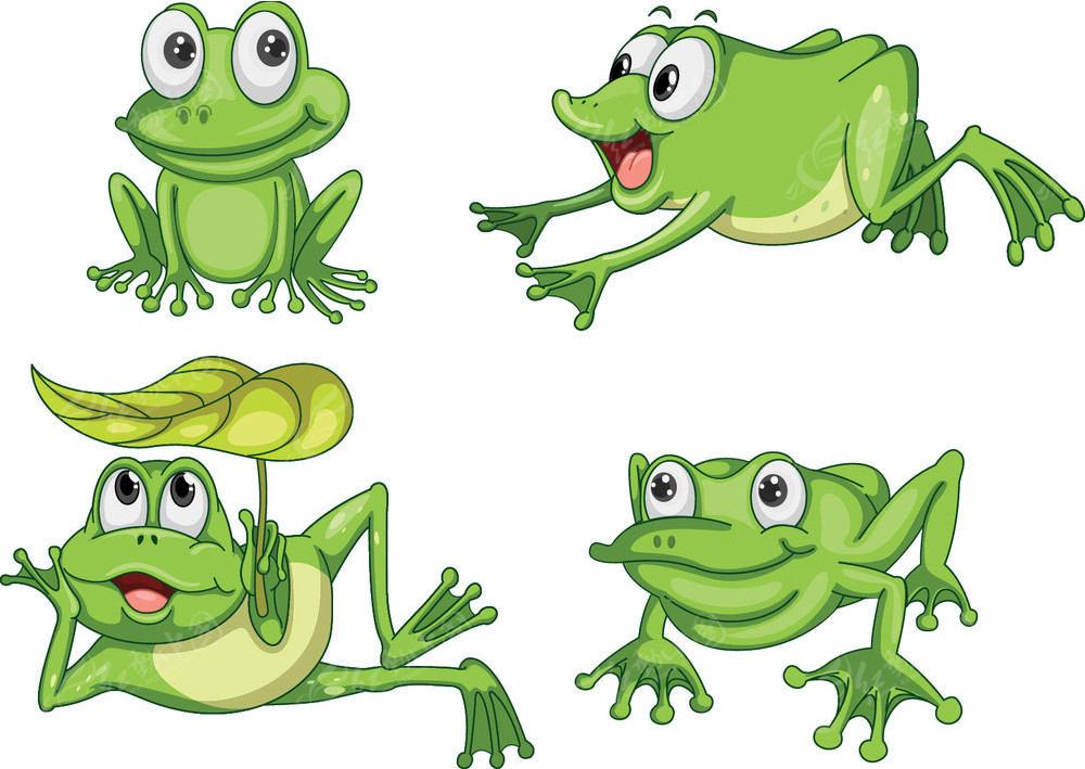 免费素材 矢量素材 生物世界 水中动物 矢量小青蛙