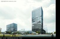 现代风格建筑效果图