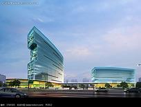高档国际写字楼建筑效果图