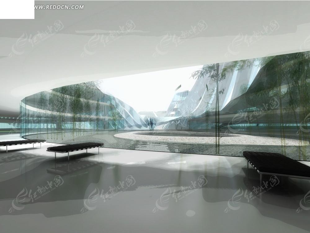 美术馆室内效果图