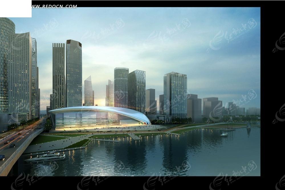 都市建筑效果图